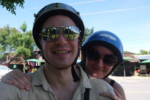 Us on a Scooter in Thailand
