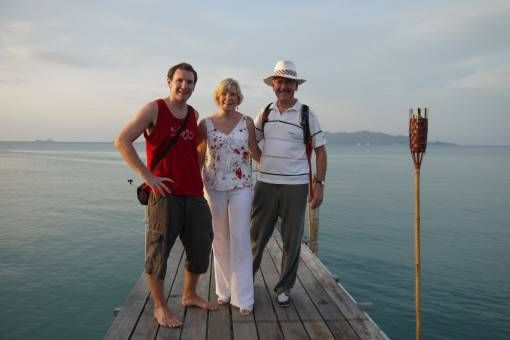 Andrew & his parents in Koh Samui