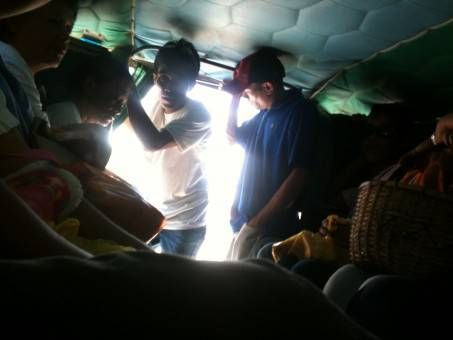 Cramped Jeepney in the Philippines