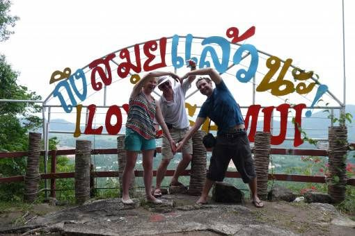 With my parents at a Koh Samui viewpoint