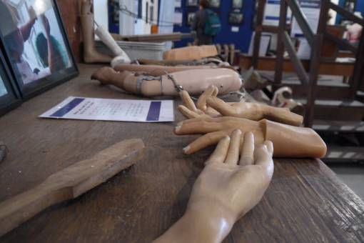 Prosthetic Hands at the COPE Centre, Laos