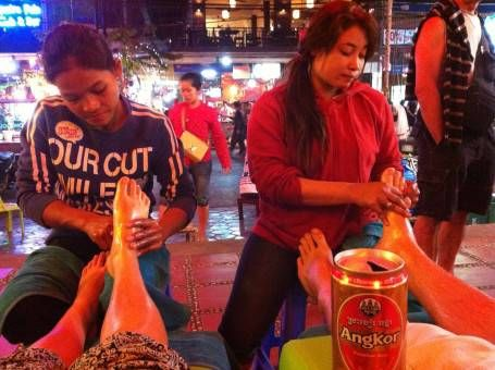 Street Massage in Siem Reap