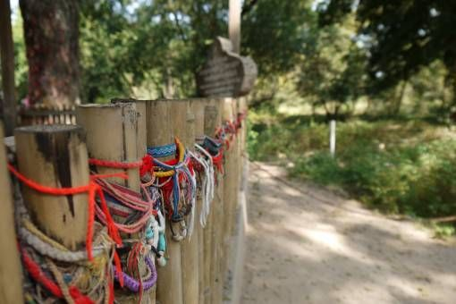 Bracelets at a Mass Grave in the Killing Fields