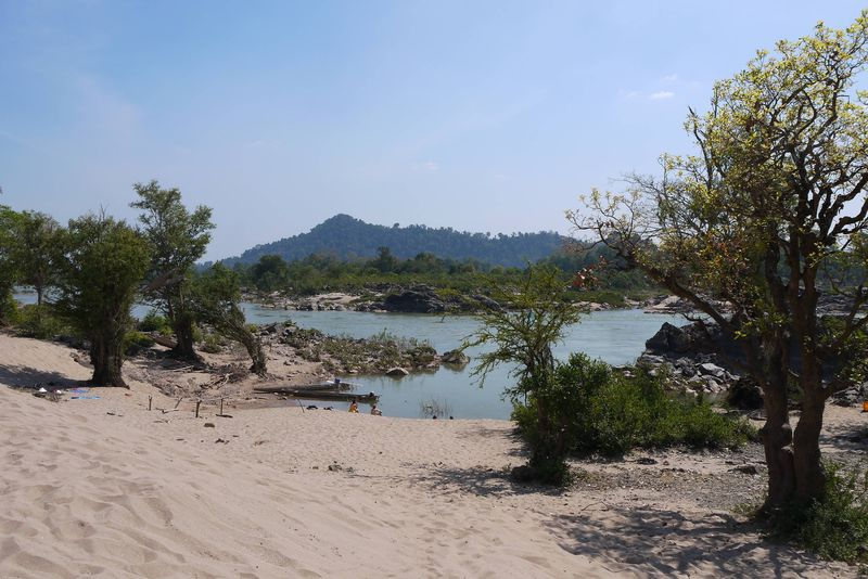 Beach on Don Det, Laos