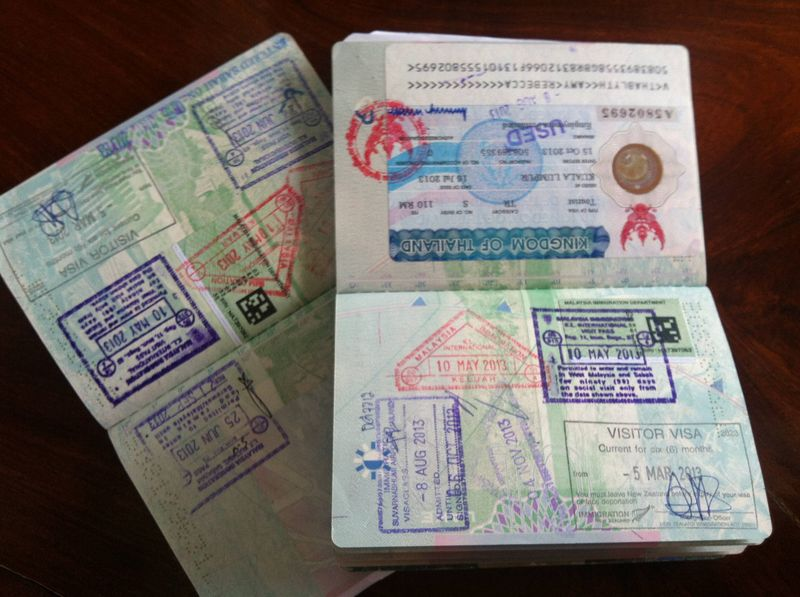 Visa Stamps in Passports