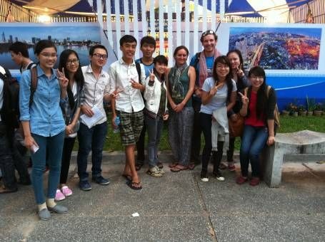 Talking With Tourists in Ho Chi Minh City Vietnam