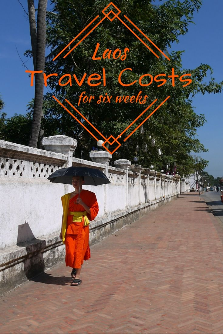 Laos travel costs for six weeks