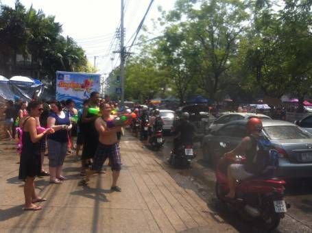 Giant Water Fight in Chiang Mai