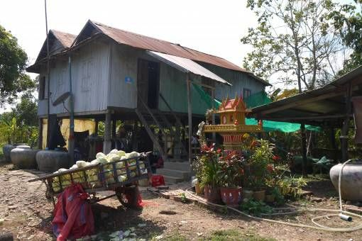 Cambodian House in the Countryside
