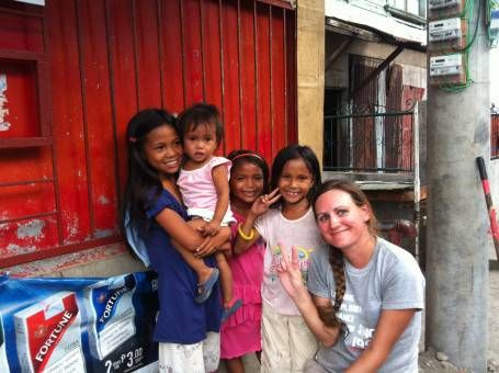 Me With Children in Tacloban, the Philippines