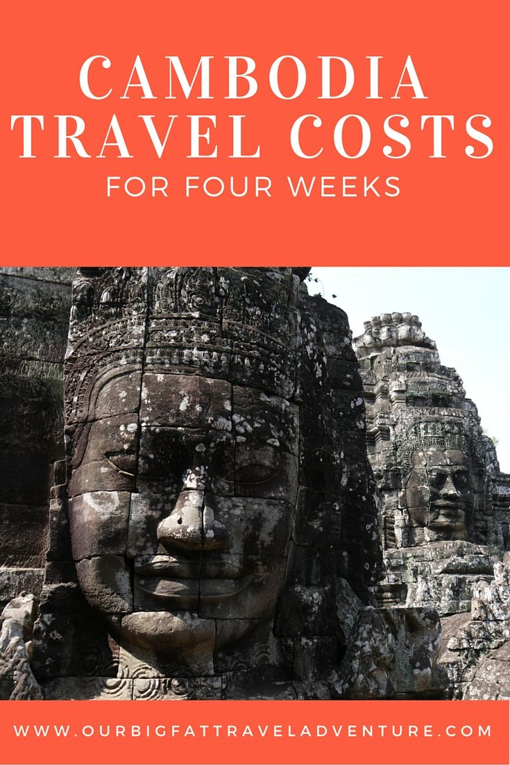 cambodia travel costs for four weeks