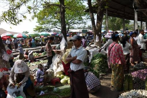No guides or tourist traps in sight; just a Burmese market