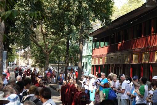 Bad tourism at the monastery in Mandalay