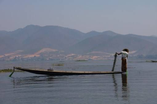 Fisherman on Lake Inle, Burma