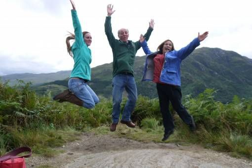 Jumping Shot in the Scottish Highlands