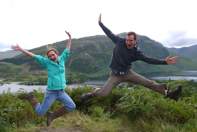 Us Jumping in Scotland