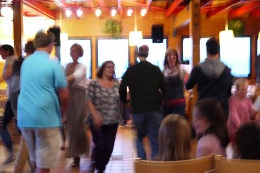 Dancing at a Scottish Ceilidh