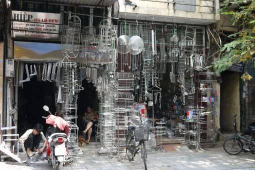 Stainless steel shop on stainless steel street in Hanoi