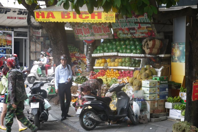 Fruit stand in Hanoi's Old Quarter