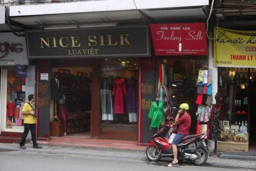 Silk shop on Hang Gai, Hanoi's Old Quarter