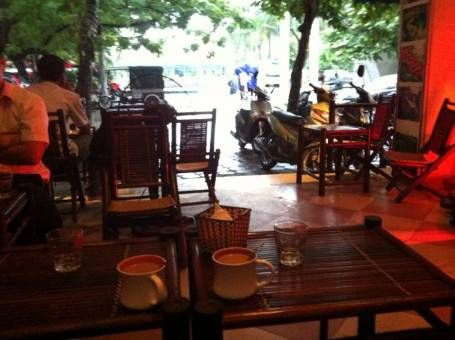 Hot chocolate in a cafe in Hanoi