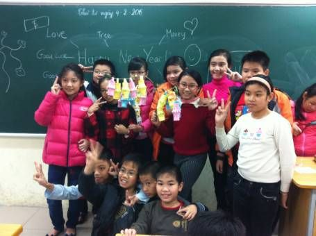 Vietnamese Class with Paper Lanterns for TET
