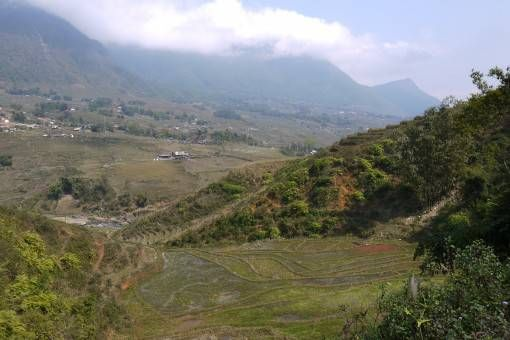 View of the Rice Terraces in Sapa, Vietnam
