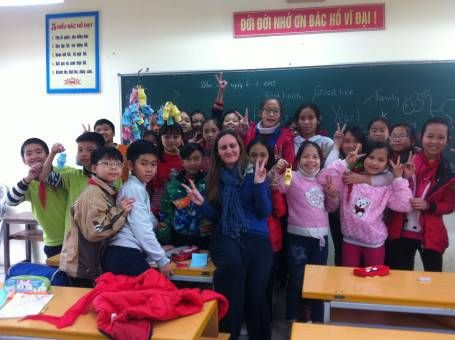 Amy teaching English in Vietnam