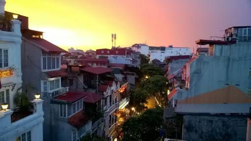 Sunset over Hanoi