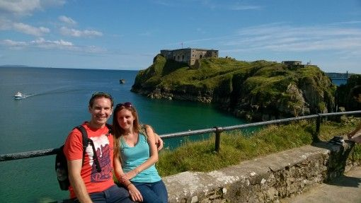 View over the sea in Tenby, South West Wales