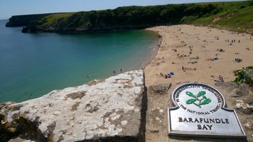 A view overlooking Barafundle Bay, Pembrokeshire