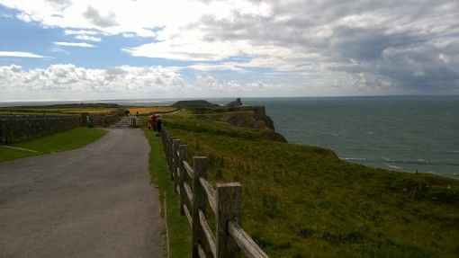 Coastal path overlooking Rhossili Bay, Swansea and the Gower