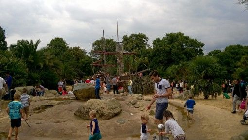 Pirate ship in the Princess Diana Memorial Playground in Hyde Park
