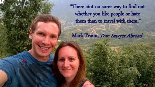 Like people or hate them Mark Twain travel quote