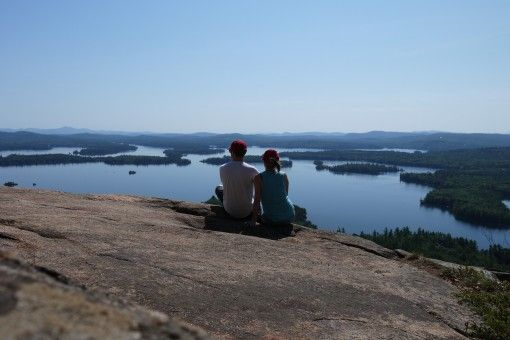 Us overlooking Squam Lake, New Hampshire