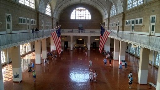 Registry Room in Ellis Island Immigration Museum