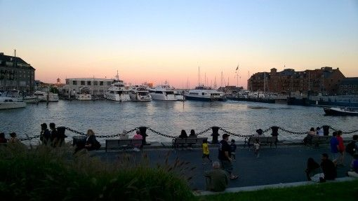 Boston Harbor Sunset in the USA