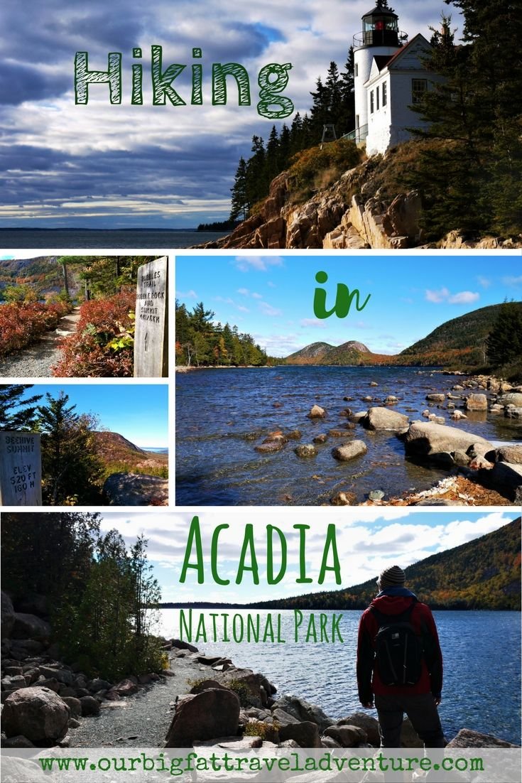 Hiking in Acadia National Park Pinterest