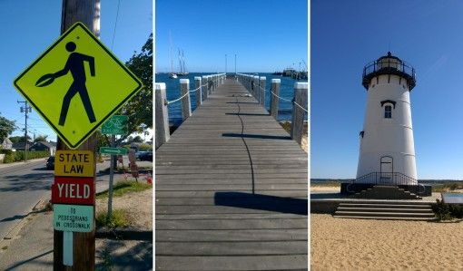 Martha's Vineyard Lighthouse, Pier and Sign