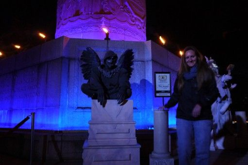 Amy with a Providence Gargoyle