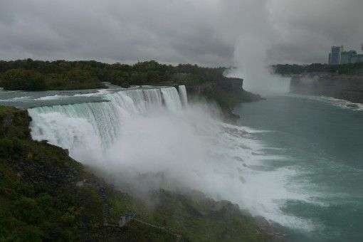 View of Niagara Falls from the Observation Deck on the American side