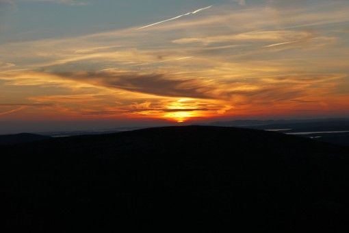 Sunset view from Cadillac Mountain, Acadia National Park