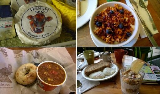 A selection of Vermont food