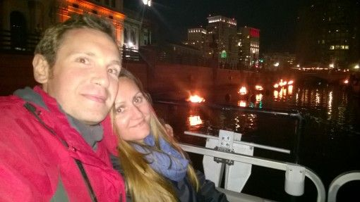 On the river for Providence's WaterFire Festival