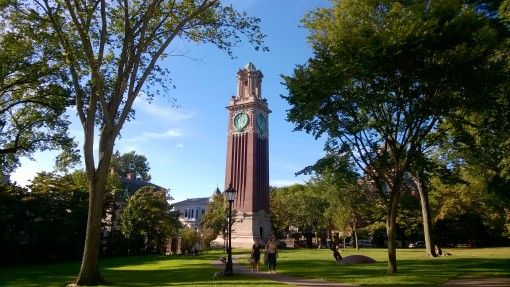 Clock Tower at Brown University Campus, Providence