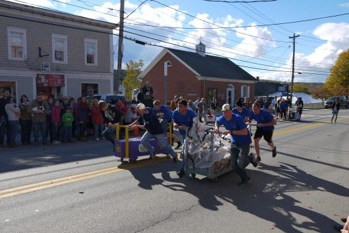 Coffin racing at Ghostport