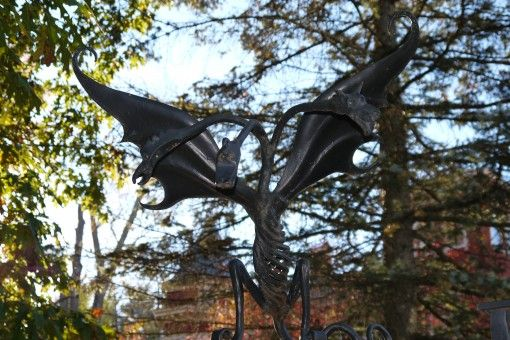 Three-headed dragon at Stephen King's house