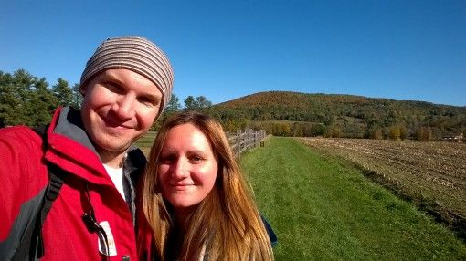 Us at Billings Farm in Vermont, New England