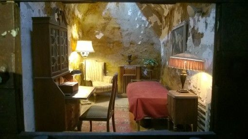 Al Capone's prison cell at the Eastern State Penitentiary