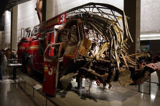 Ladder 3 Fire Truck in the 9/11 Memorial Museum